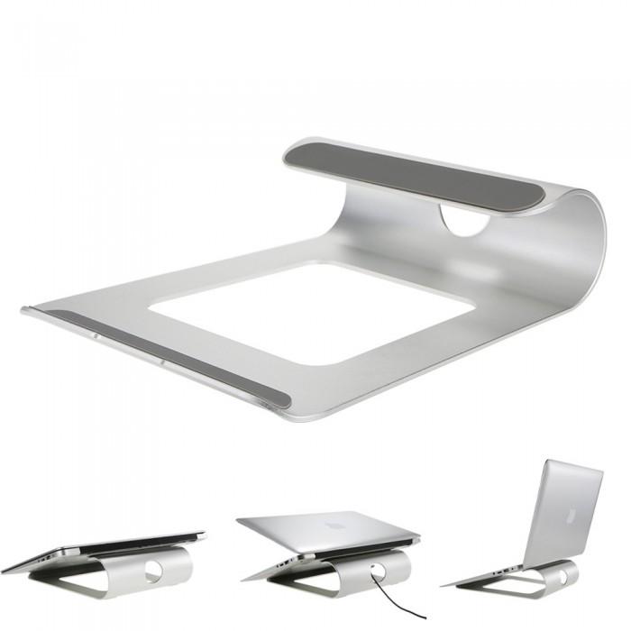 Ergonomic Design Aluminum Alloy Laptop Stand Desk Dock Holder Cooler