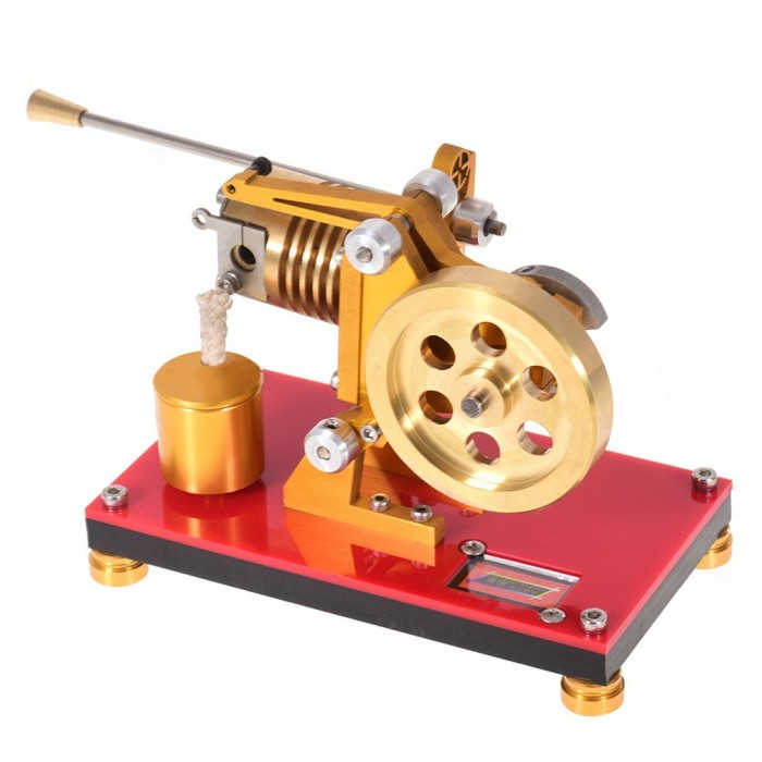 Flame Licker Stirling Engine Model Mini Hot Air Stirling Engine Generator Model Scientific Experiment Education Toy with Tool Kit