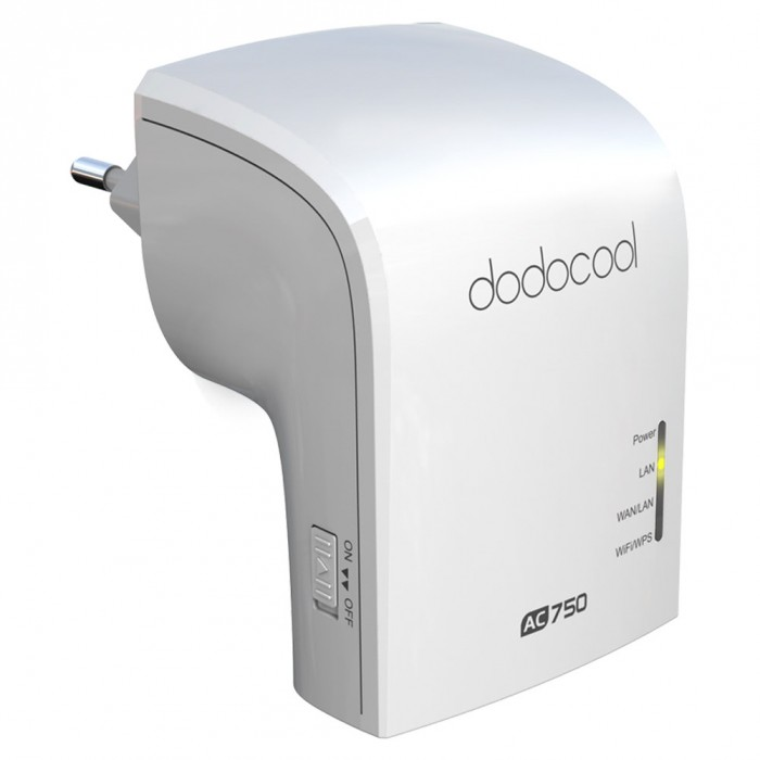 dodocool AC750 Dual Band Wireless Wi-Fi AP / Repeater / Router Simultaneous 2.4GHz 300Mbps and 5GHz 433Mbps