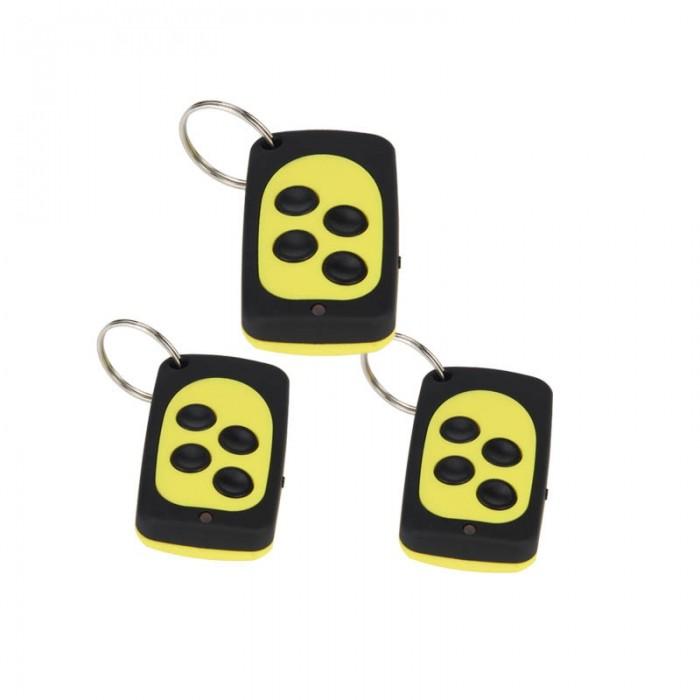 3PCS wireless control universal copy remote control (black + yellow)