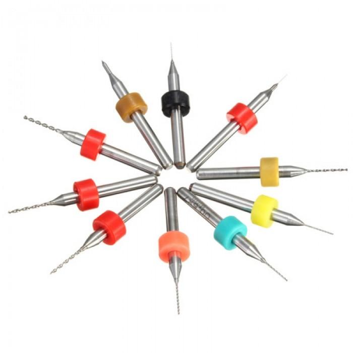 10pcs 0.1-1mm Tungsten Steel PCB Print Circuit Board Drill Bit