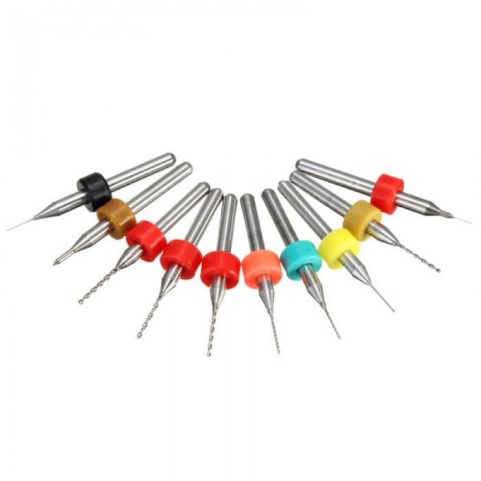 10pcs 1.1-2.0mm Tungsten Steel PCB Print Circuit Board Drill Bit