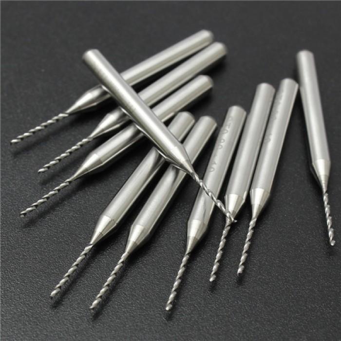 10pcs 0.3-1.2mm Tungsten Steel PCB Print Carving Drill Bit