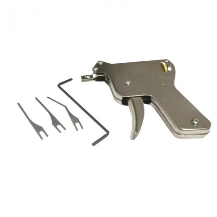 1pc Door Lock Multifunctional Unlocking Gun Tools - Silver