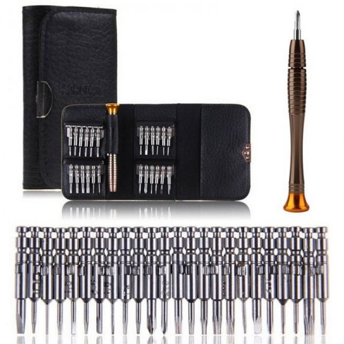 25-in-1 Multipurpose Precision Screwdriver Wallet Set Repair Tools