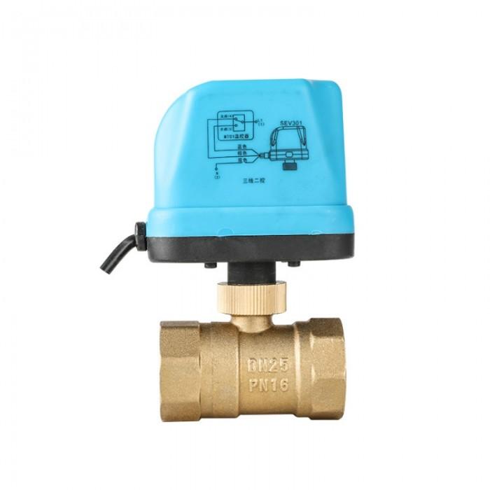 """1"""" Motorized Electric Brass Ball Valves 3 Wire AC 220V Full Port Valve - DN25"""