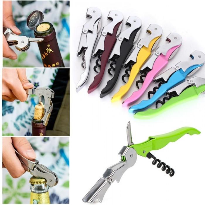Professional Corkscrew Opener Household Accessories Wine Champagne Grape Wine Beer Bottle Opener Random Color