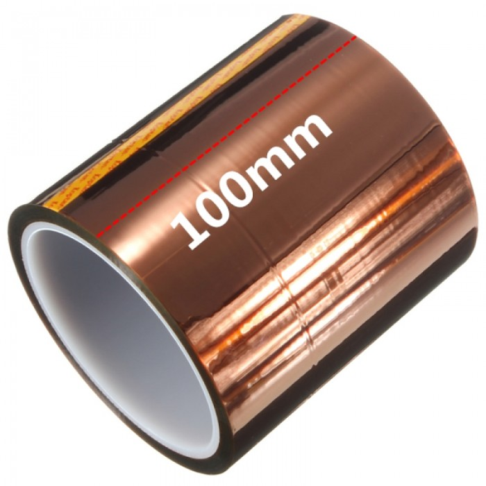 100mm x 30m High Temperature Tape Polyimide High Temperature Resistant Tape for Heat Transfer Vinyl, 3D Printing, Soldering, Masking