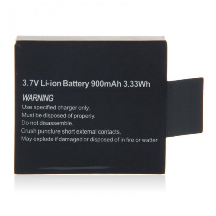 3.7V 900mAh Li-ion Battery for SJ4000/5000/7000 Camera Black