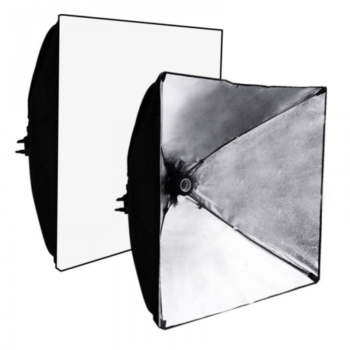 Kshioe 5070 Studio Light Softbox Black & Silver US Plug