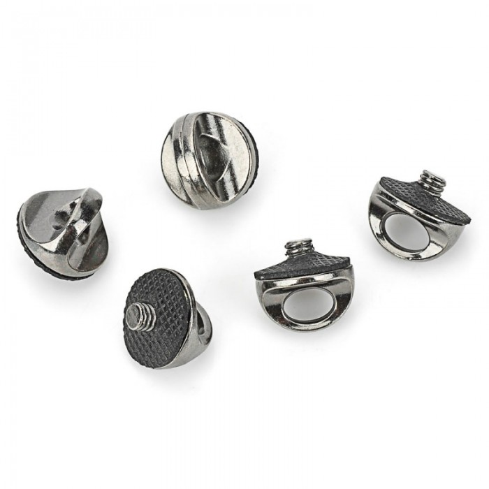 5pcs Universal Upgraded Stainless Steel Camera Screw Pack Black & Silver