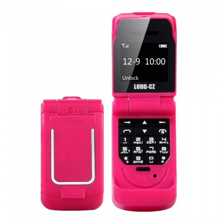 LONG-CZ J9 BT Mini Flip Feature Phone 0.66-inch 64MB Big Speaker Loud Volume Voice Changer Phonebook Call SMS Alarm SOS Multilanguage FM 2G Mobile Phone