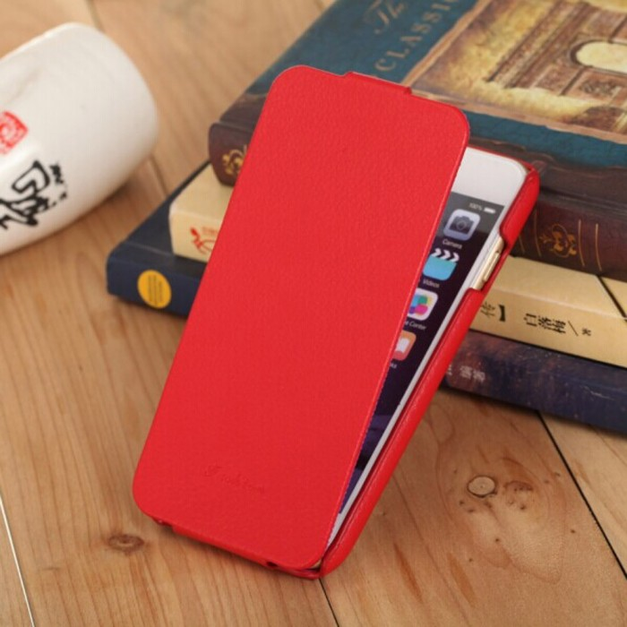 Fashion Genuine + PU Leather Mobile Phone Ultra Slim Flip Cover Protective Shell for 4.7