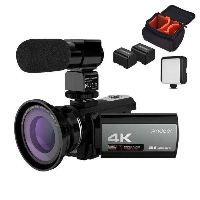 Andoer 4K 48MP WiFi Digital Video Camera