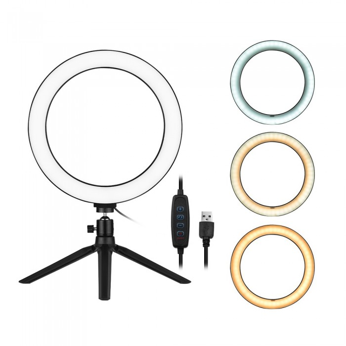 10 Inch LED Ring Light with Tripod Stand
