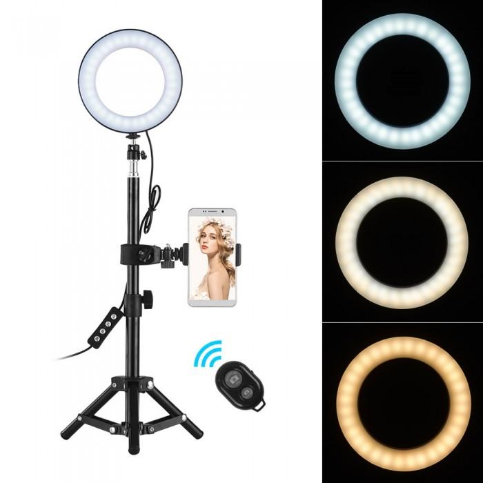 6 Inch Desktop Portable Selfie LED Ring Light